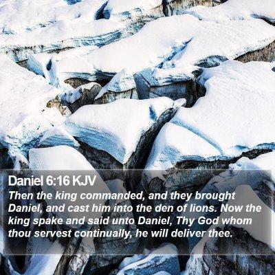 Daniel 6:16 KJV Bible Verse Image