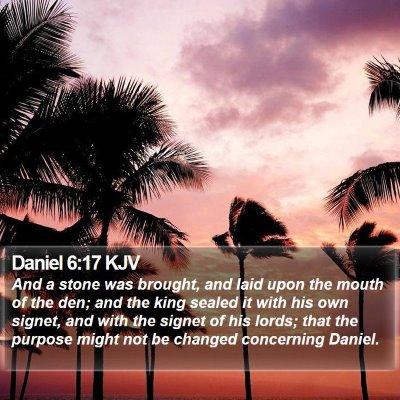 Daniel 6:17 KJV Bible Verse Image