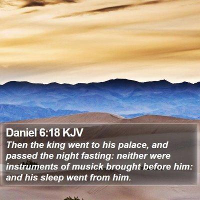 Daniel 6:18 KJV Bible Verse Image