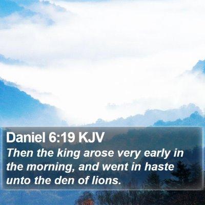 Daniel 6:19 KJV Bible Verse Image