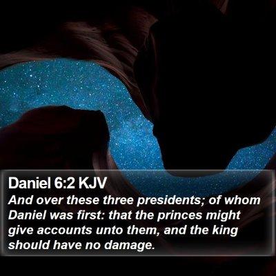 Daniel 6:2 KJV Bible Verse Image