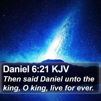Daniel 6:21 KJV Bible Verse Image