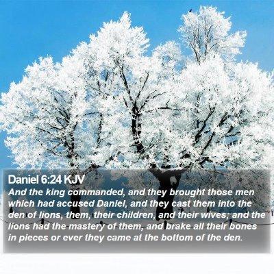 Daniel 6:24 KJV Bible Verse Image