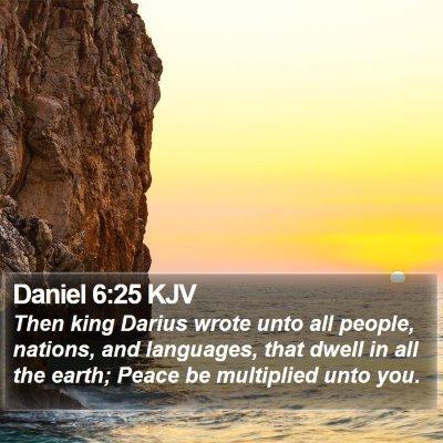 Daniel 6:25 KJV Bible Verse Image