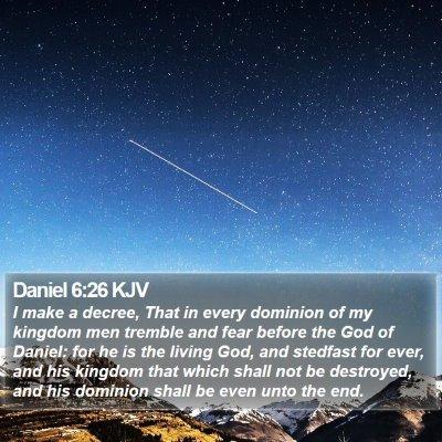 Daniel 6:26 KJV Bible Verse Image