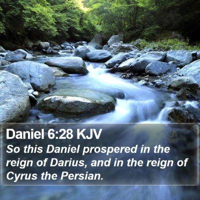 Daniel 6:28 KJV Bible Verse Image