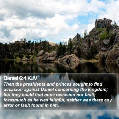 Daniel 6:4 KJV Bible Verse Image