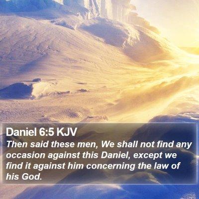 Daniel 6:5 KJV Bible Verse Image