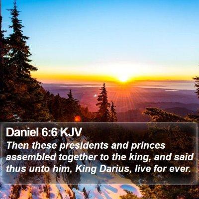 Daniel 6:6 KJV Bible Verse Image