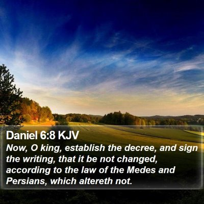 Daniel 6:8 KJV Bible Verse Image