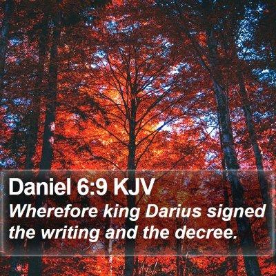 Daniel 6:9 KJV Bible Verse Image
