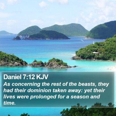 Daniel 7:12 KJV Bible Verse Image