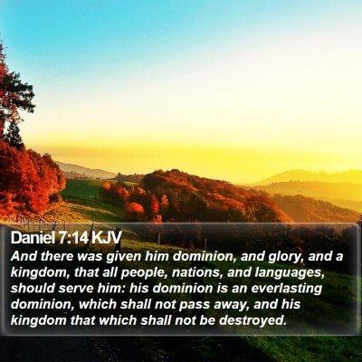 Daniel 7:14 KJV Bible Verse Image