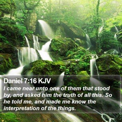Daniel 7:16 KJV Bible Verse Image