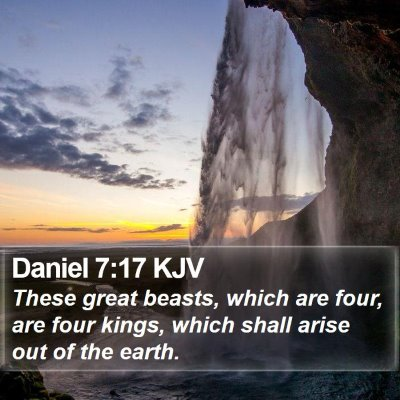 Daniel 7:17 KJV Bible Verse Image
