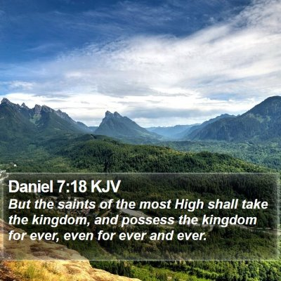 Daniel 7:18 KJV Bible Verse Image