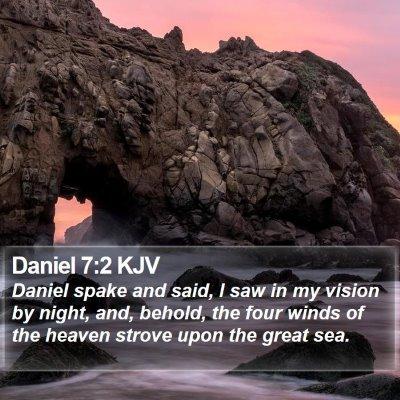 Daniel 7:2 KJV Bible Verse Image
