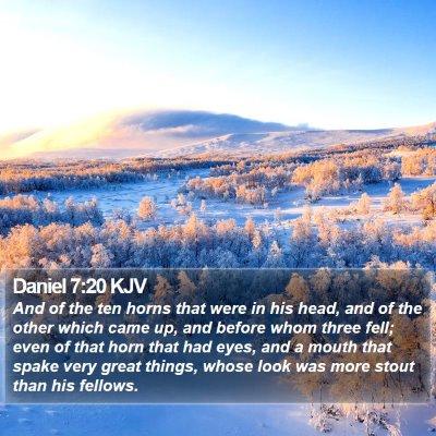 Daniel 7:20 KJV Bible Verse Image