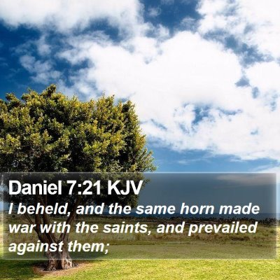 Daniel 7:21 KJV Bible Verse Image