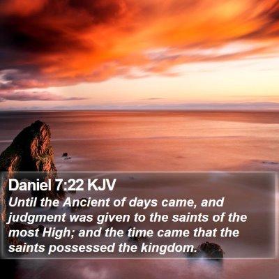 Daniel 7:22 KJV Bible Verse Image