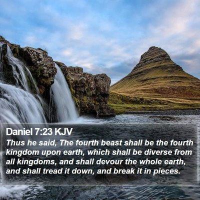 Daniel 7:23 KJV Bible Verse Image