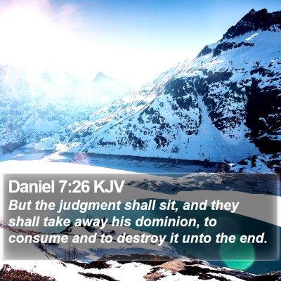 Daniel 7:26 KJV Bible Verse Image