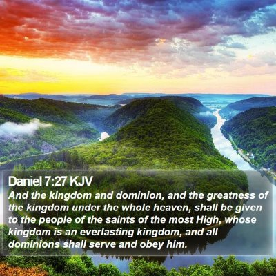 Daniel 7:27 KJV Bible Verse Image