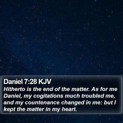 Daniel 7:28 KJV Bible Verse Image