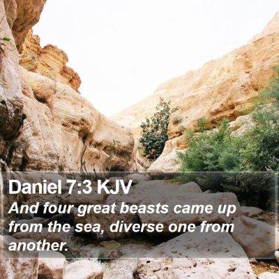 Daniel 7:3 KJV Bible Verse Image