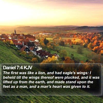 Daniel 7:4 KJV Bible Verse Image