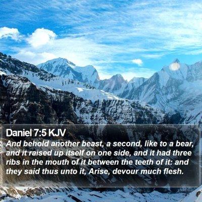 Daniel 7:5 KJV Bible Verse Image
