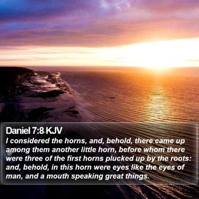 Daniel 7:8 KJV Bible Verse Image