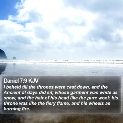 Daniel 7:9 KJV Bible Verse Image
