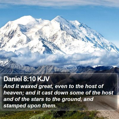 Daniel 8:10 KJV Bible Verse Image