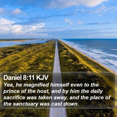 Daniel 8:11 KJV Bible Verse Image