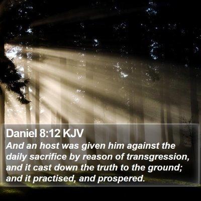 Daniel 8:12 KJV Bible Verse Image