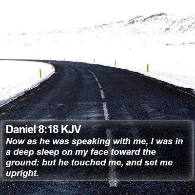 Daniel 8:18 KJV Bible Verse Image