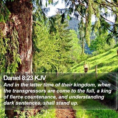 Daniel 8:23 KJV Bible Verse Image