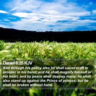 Daniel 8:25 KJV Bible Verse Image