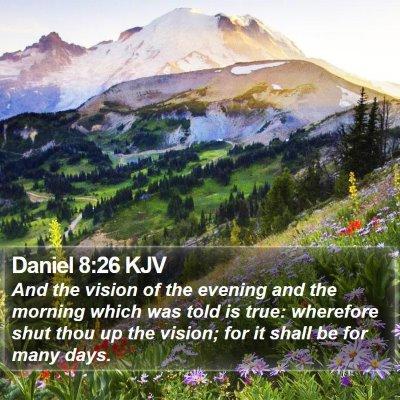 Daniel 8:26 KJV Bible Verse Image