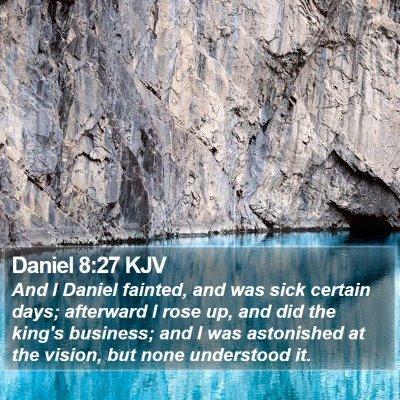 Daniel 8:27 KJV Bible Verse Image