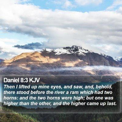 Daniel 8:3 KJV Bible Verse Image