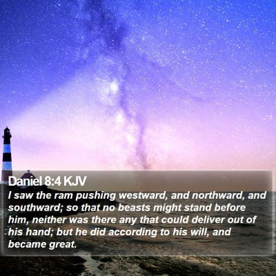 Daniel 8:4 KJV Bible Verse Image