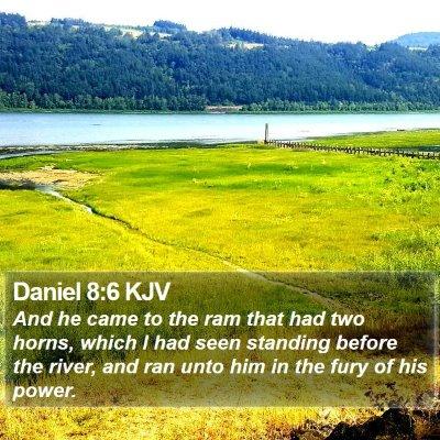 Daniel 8:6 KJV Bible Verse Image