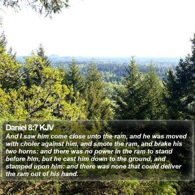 Daniel 8:7 KJV Bible Verse Image