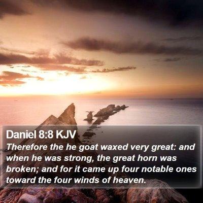 Daniel 8:8 KJV Bible Verse Image