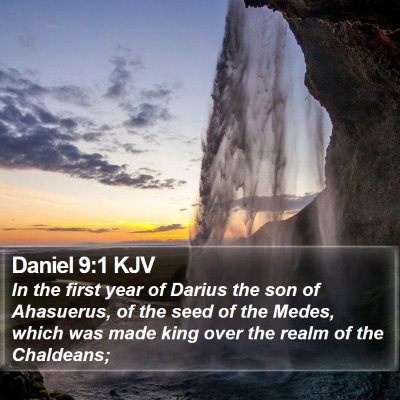 Daniel 9:1 KJV Bible Verse Image