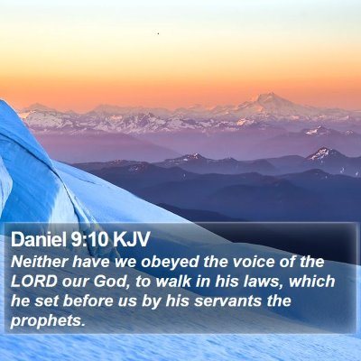 Daniel 9:10 KJV Bible Verse Image