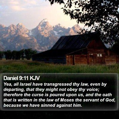 Daniel 9:11 KJV Bible Verse Image