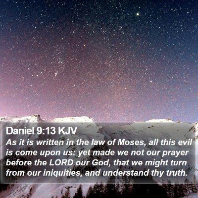 Daniel 9:13 KJV Bible Verse Image